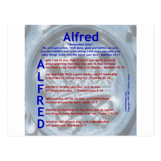 Alfred Acrostic Postcard
