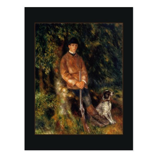 Alfred Berard and his Dog by Renoir Post Cards