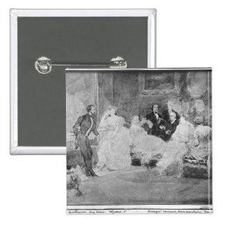 Alfred de Musset  Eugene Delacroix Button