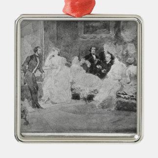 Alfred de Musset  Eugene Delacroix Metal Ornament