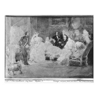 Alfred de Musset  Eugene Delacroix Postcard