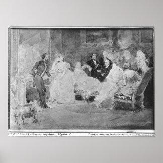 Alfred de Musset  Eugene Delacroix Poster