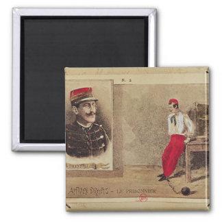 Alfred Dreyfus  as a prisoner, 1894-1906 2 Inch Square Magnet