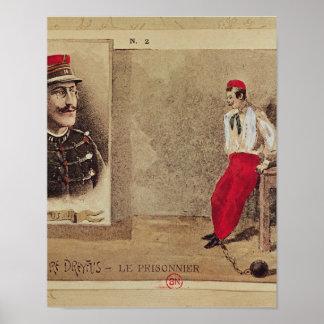 Alfred Dreyfus  as a prisoner, 1894-1906 Poster