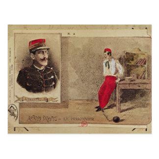 Alfred Dreyfus como preso, 1894-1906 Postal