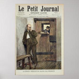 Alfred Dreyfus en la prisión Póster