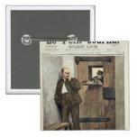 Alfred Dreyfus  in Prison 2 Inch Square Button