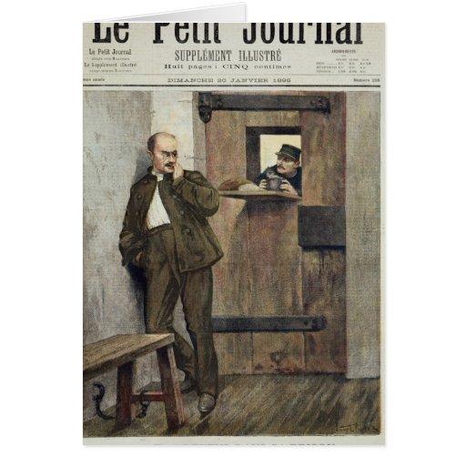 Alfred Dreyfus  in Prison Card