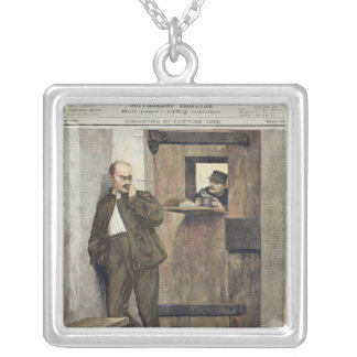 Alfred Dreyfus  in Prison Silver Plated Necklace