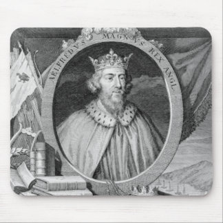 Alfred el gran (849-99) rey de Wessex, grabado Alfombrillas De Ratón