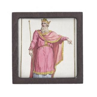 Alfred el grande (849-99) de 'DES Estamp de Receui Caja De Regalo De Calidad