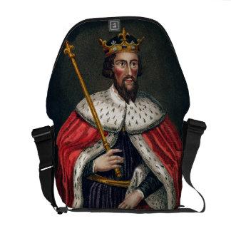 Alfred el grande 849-99 después de una pintura bolsa messenger