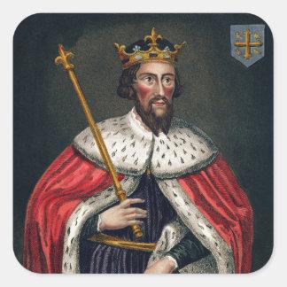 Alfred el grande 849-99 después de una pintura pegatinas cuadradas