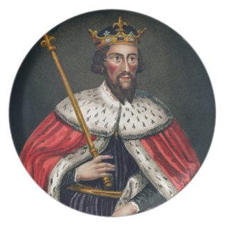 Alfred el grande 849-99 después de una pintura platos para fiestas