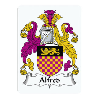 Alfred Family Crest Personalized Invite