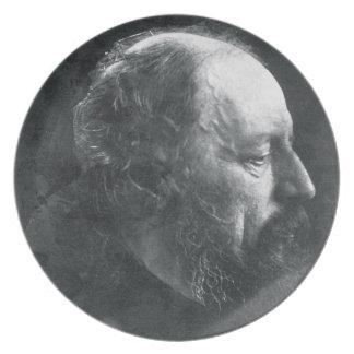 Alfred, Lord Tennyson (1809-92) c.1868 (albumen pr Dinner Plate