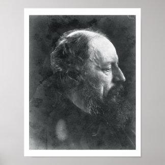 Alfred, Lord Tennyson (1809-92) c.1868 (albumen pr Poster