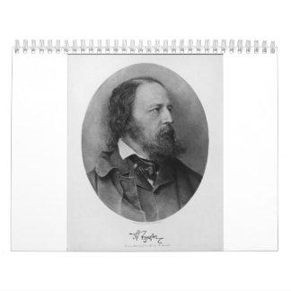 Alfred Lord Tennyson Portrait 1905 Calendar