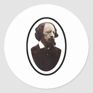 Alfred Lord Tennyson The MUSEUM Zazzle Gifts Classic Round Sticker