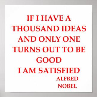 alfred Nobel Póster