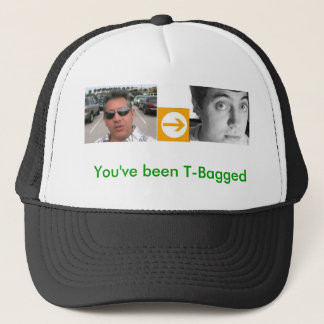 alfred, right arrow, david, You've been T-Bagged Trucker Hat