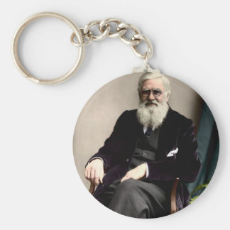 Alfred Russel Wallace c1895 Keychains