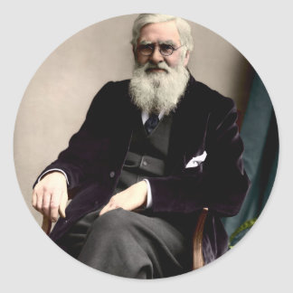 Alfred Russel Wallace c1895 Pegatina Redonda