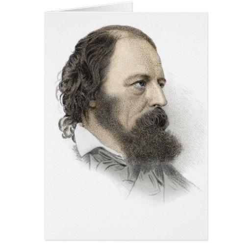 Alfred, señor Tennyson Tarjeta De Felicitación