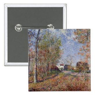 Alfred Sisley | A Corner of the Woods at Sablons Pinback Button