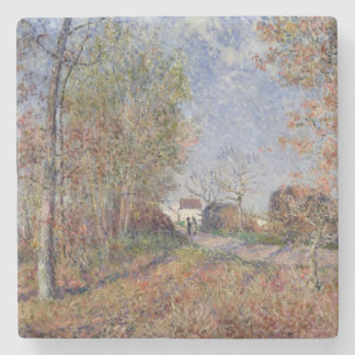 Alfred Sisley | A Corner of the Woods at Sablons Stone Coaster