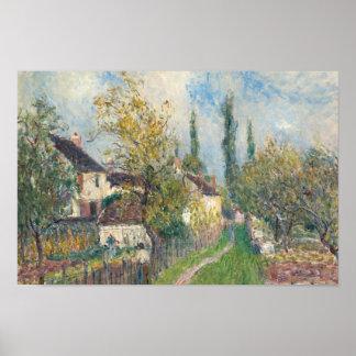 Alfred Sisley - A Path at Les Sablons Poster