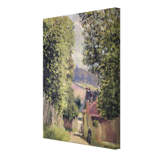 Alfred Sisley | A Road in Louveciennes Canvas Print