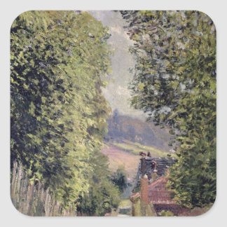 Alfred Sisley | A Road in Louveciennes Square Sticker