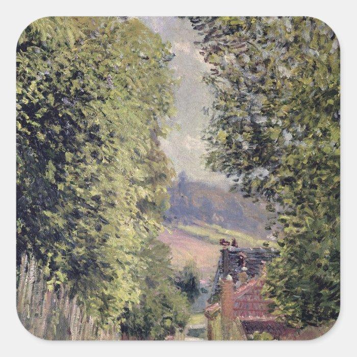 Alfred Sisley | A Road in Louveciennes Square Sticker