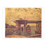 Alfred Sisley - aceite de Brücke im Bau 1885 en Postales