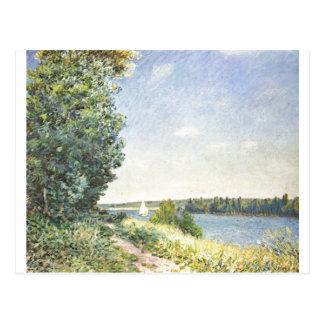 Alfred Sisley - aceite de Normandie 1894 en lona Postales