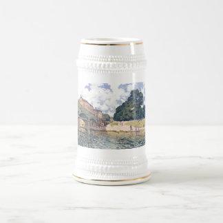 Alfred Sisley - aceite del Hampton Court 1874 de Jarra De Cerveza