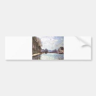 Alfred Sisley - Ansicht Kanals Saint-Martin 1870 Bumper Sticker