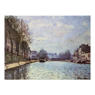 Alfred Sisley - Ansicht Kanals Saint-Martin 1870 Poster