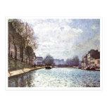 Alfred Sisley - Ansicht Kanals San Martín 1870 Postal