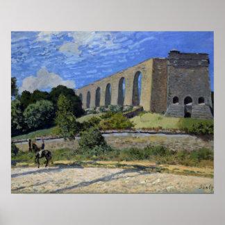 Alfred Sisley - Aqueduct at Marly Poster