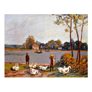 Alfred Sisley art: By The River Loing Postcards