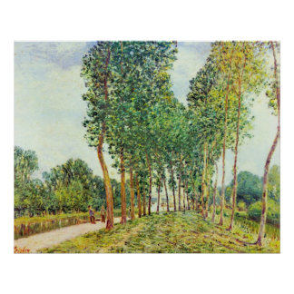 Alfred Sisley - Banks of the Loing in Moret Poster