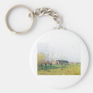 Alfred Sisley Bauernhof zum Höllenkaff  1874 Keychain