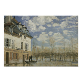 Alfred Sisley - Boat in the Flood at Port Marly Poster