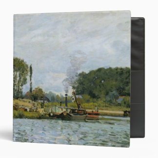 Alfred Sisley | Boats at the lock at Bougival Binder