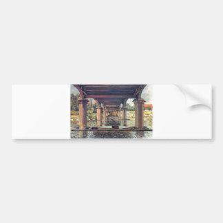 Alfred Sisley Brücke - Hampton Court 1874 Car Bumper Sticker