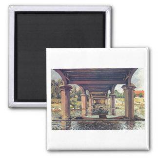 Alfred Sisley Brücke - Hampton Court 1874 Magnet