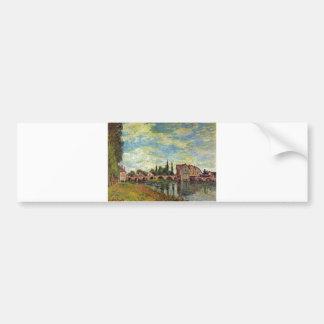 Alfred Sisley Brücke, Mühle v Moret im Sommer 1888 Bumper Sticker