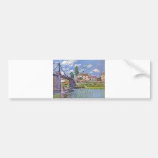 Alfred Sisley Brücke vn Villeneuve-la-Garenne 1872 Bumper Sticker